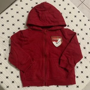 JOE FRESH | Red Hoodie w Snowman & Hockey 🏒 18M